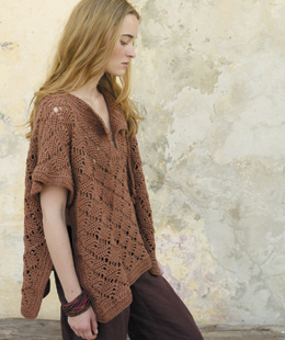 Rowan Summer Crochet - Brown Poncho