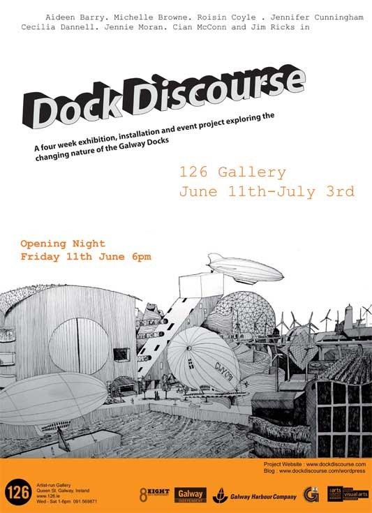 Dockdiscourse exhibition at 126 gallery, Galway