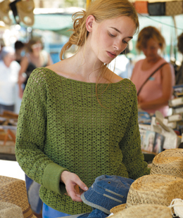 Rowan Summer Crochet - Green Top